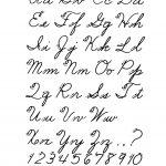 Free Printable Cursive Alphabet Letters   Design: Lettering   Free Printable Cursive Alphabet