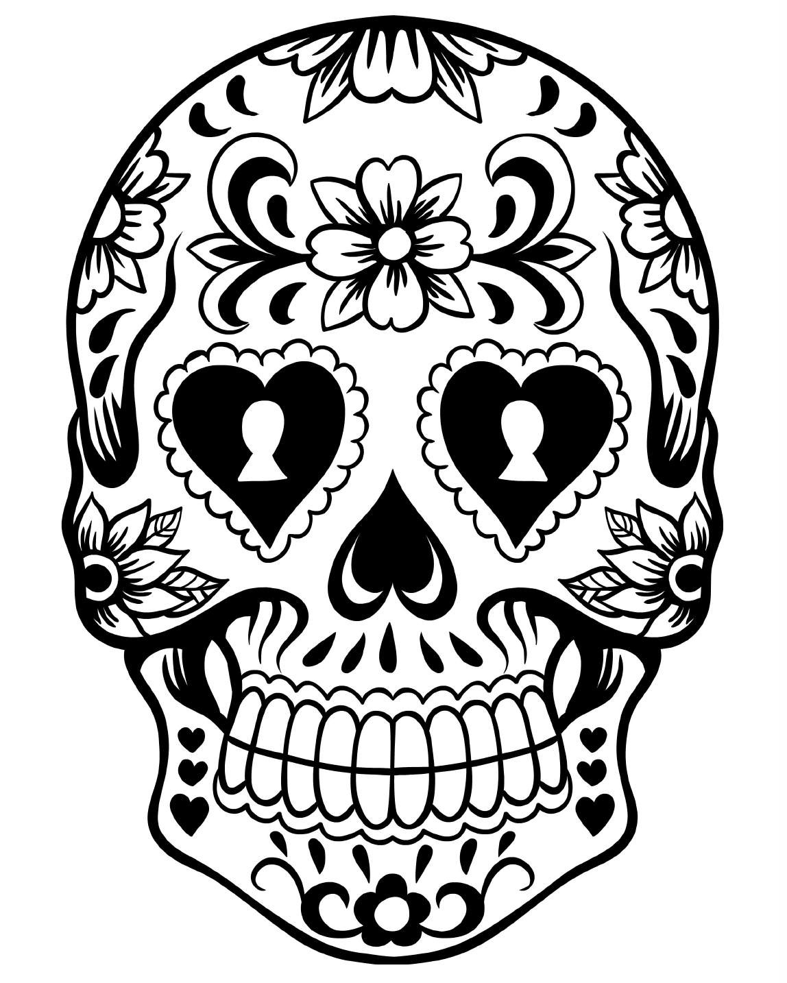 Free Printable Day Of The Dead Coloring Pages - Best Coloring Pages - Free Printable Day Of The Dead Worksheets