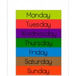Free Printable Days Of The Week Workbook And Poster | The Resources   Free Printable Days Of The Week Cards