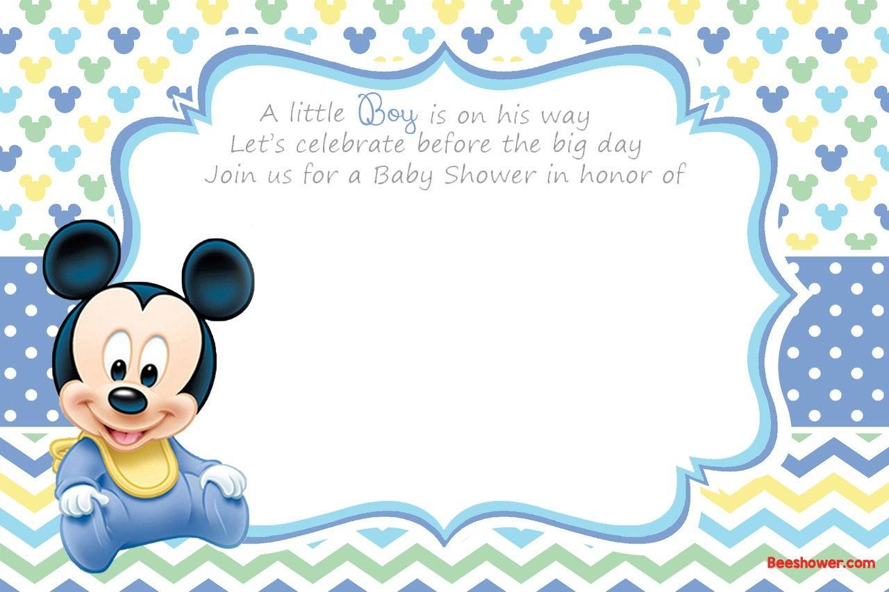 Free Printable Disney Baby Shower Invitations   Baby Shower   Free - Free Printable Baby Shower Cards Templates