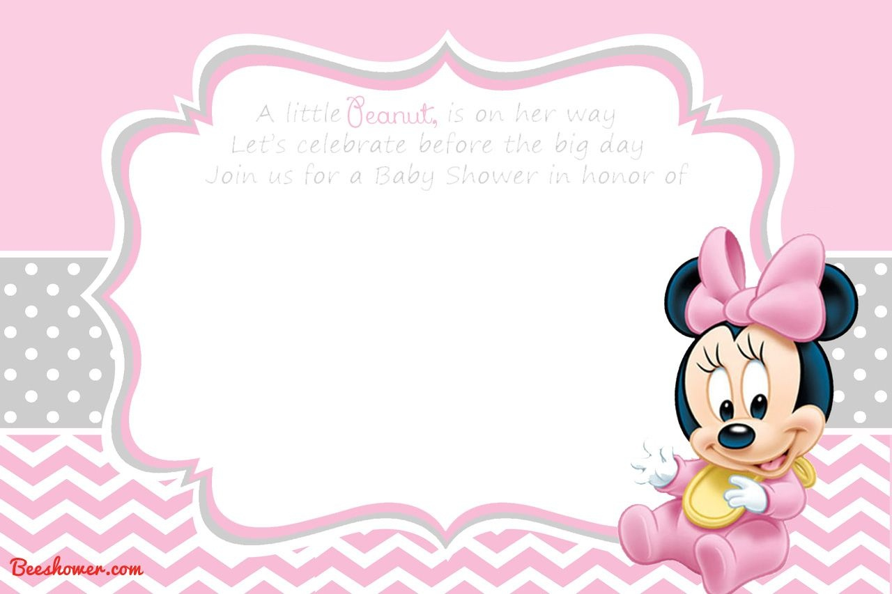 Free Printable Disney Baby Shower Invitations | Baby Shower | Free - Free Printable Minnie Mouse Baby Shower Invitations