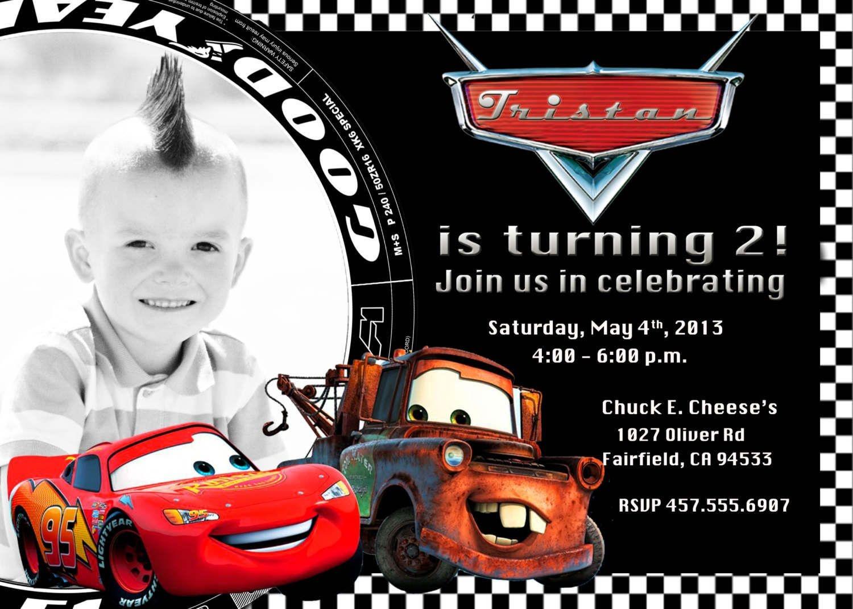 Free Printable Disney Cars 2 Birthday Invitations | Caz's 1St - Free Printable Disney Cars Birthday Party Invitations
