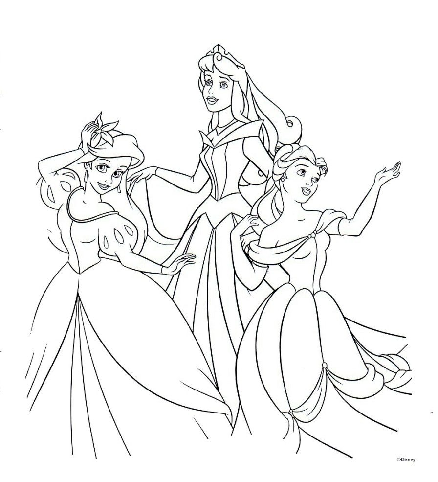 Free Printable Disney Princess Coloring Pages For Kids - Free Printable Coloring Pages Of Disney Characters