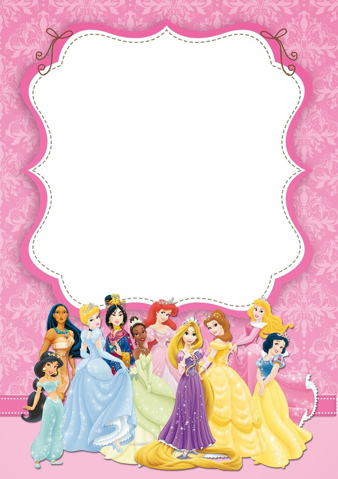 Free Printable Disney Princess Ticket Invitation | Free Printable - Free Printable Disney Invitations