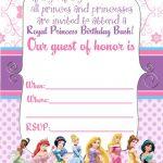 Free Printable Disney Princess Ticket Invitation | Free Printable   Free Printable Princess Invitation Cards
