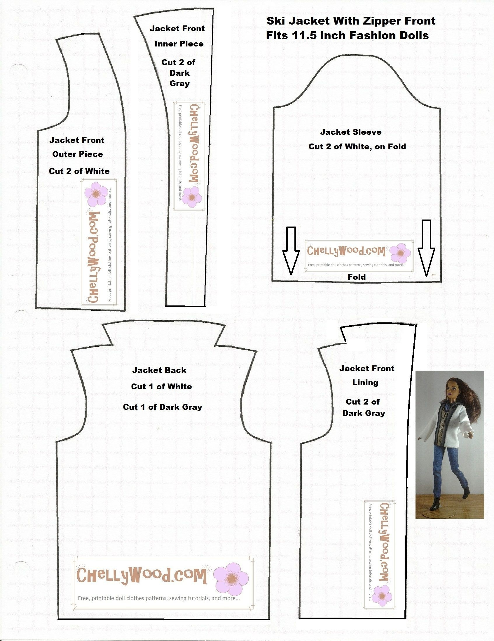 Free Printable Doll Clothes Patterns For 18 Inch Dolls Unique Doll - Free Printable Doll Clothes Patterns For 18 Inch Dolls