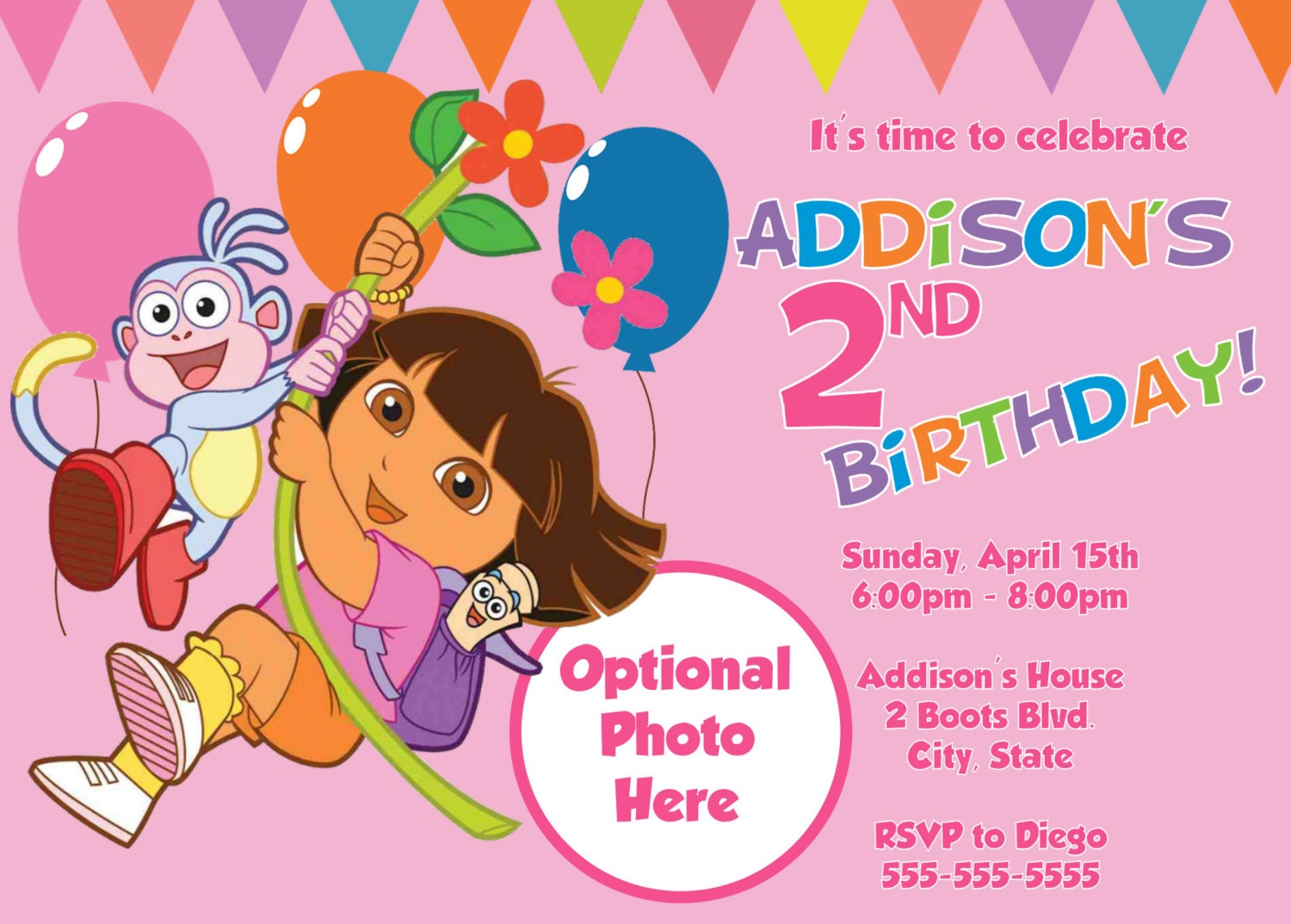 Free Printable Dora The Explorer Invitations - Dora The Explorer Free Printable Invitations