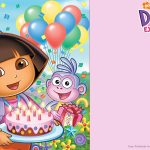 Free Printable Dora The Explorer Party Invitation | Birthday   Dora The Explorer Free Printable Invitations
