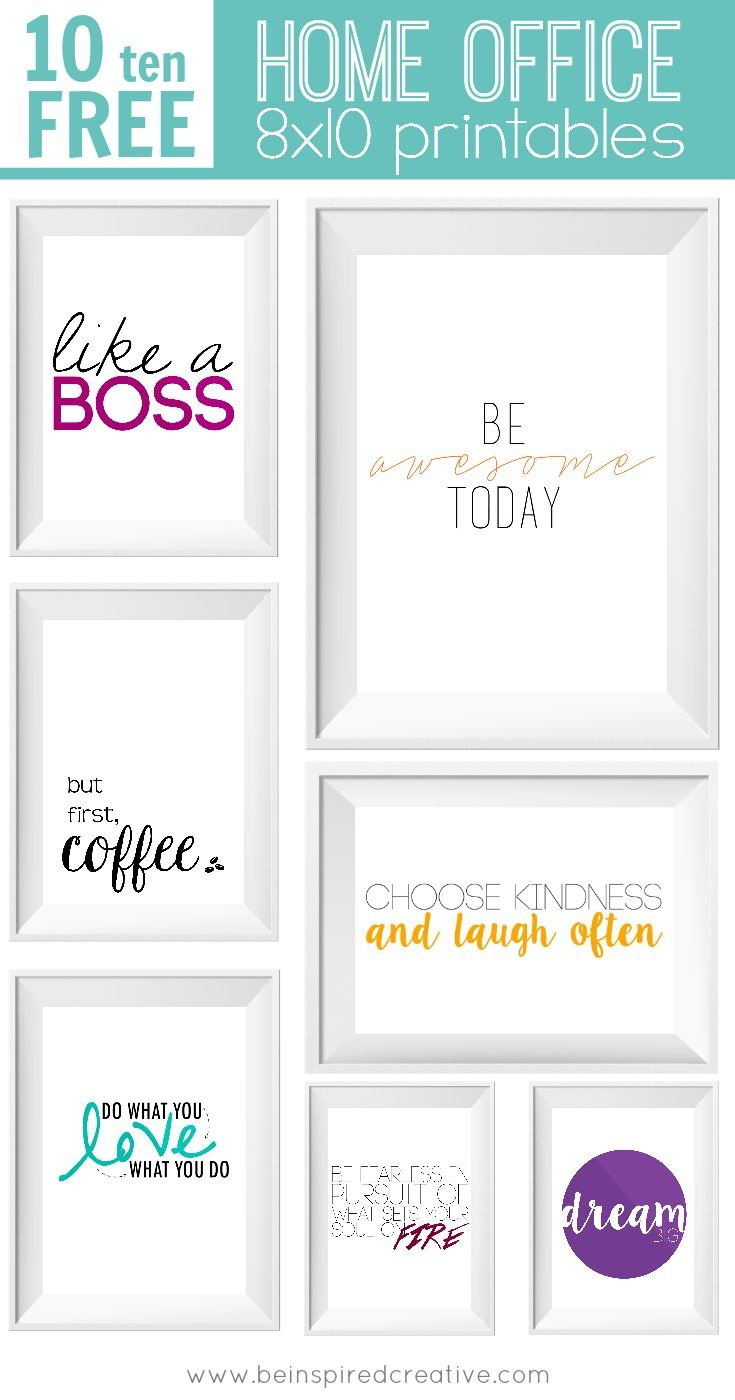 Free Printable Download: 10 Home Office Prints | Vitamix | Office - Free Printable Funny Office Signs