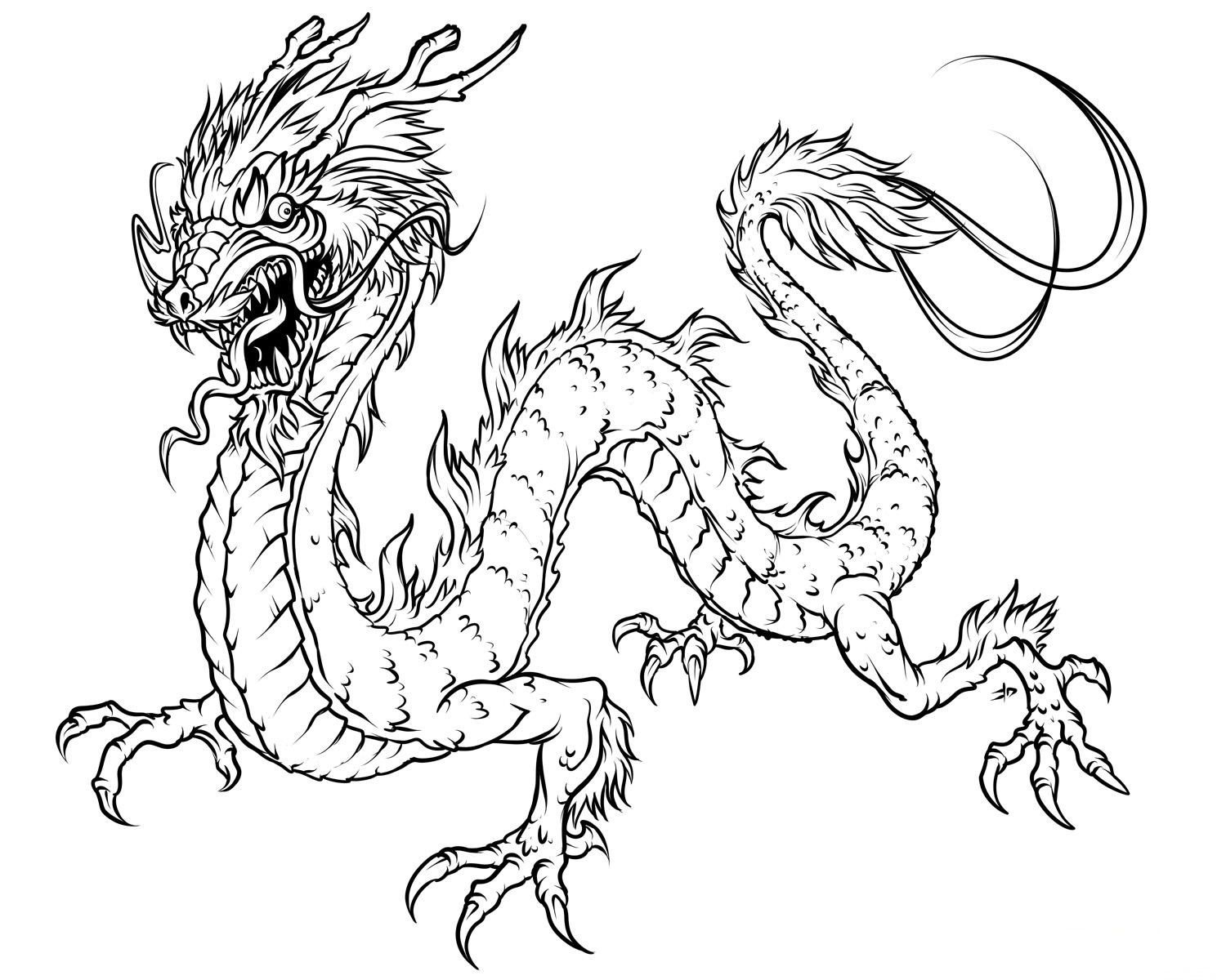 Free Printable Dragon Coloring Pages For Kids | Art | Dragon - Free Printable Chinese Dragon Coloring Pages