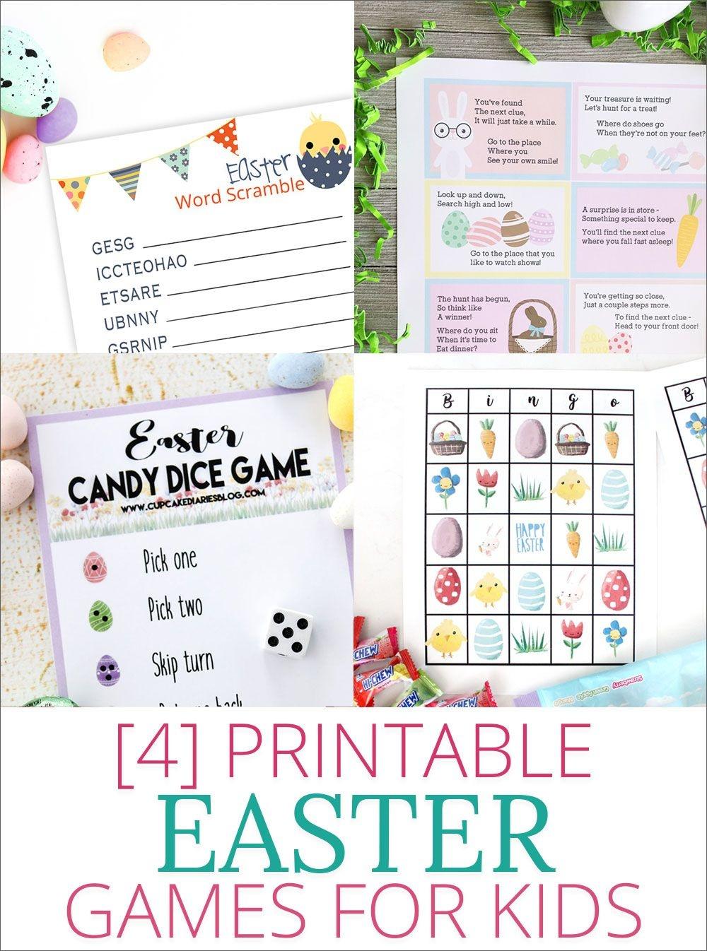 Free Printable Easter Bingo | For The Grandkiddies | Easter Games - Easter Games For Adults Printable Free