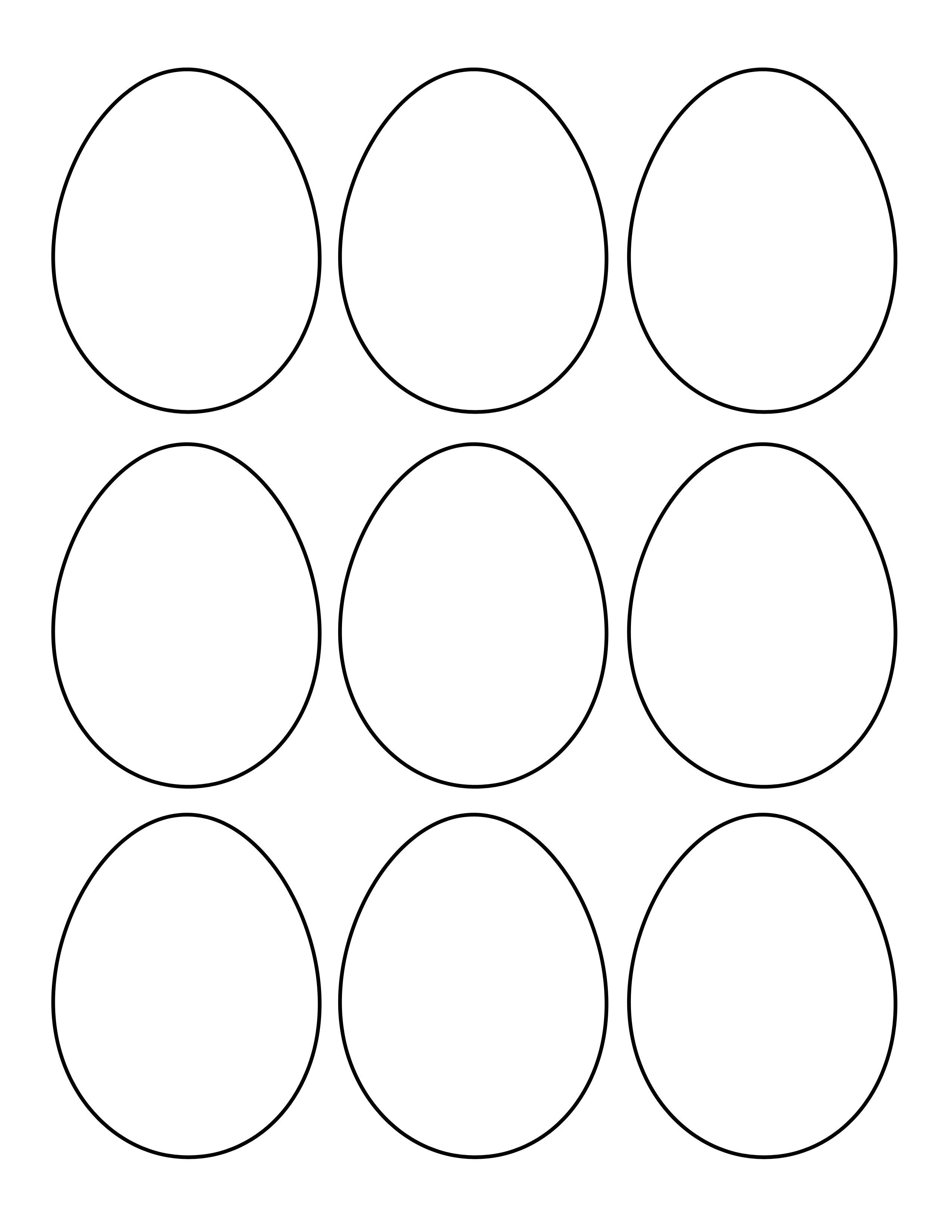 Free Printable Easter Egg Templates – Hd Easter Images - Easter Egg Template Free Printable