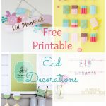 Free Printable Eid Decorations | Iftar | Ramadan Decorations, Diy   Free Printable Decor