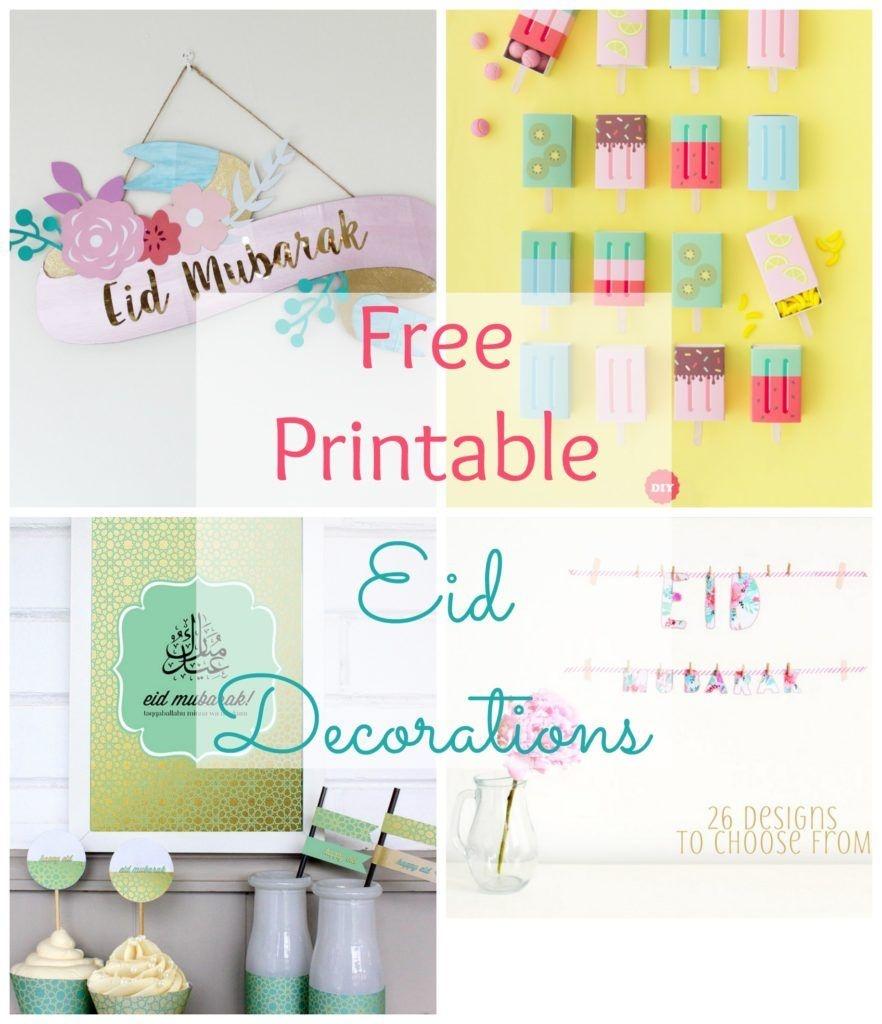 Free Printable Eid Decorations | Iftar | Ramadan Decorations, Diy - Free Printable Decor