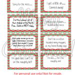 Free Printable   Elf On The Shelf Naughty Cards   Honeysuckle Footprints   Free Printable Elf On The Shelf Notes
