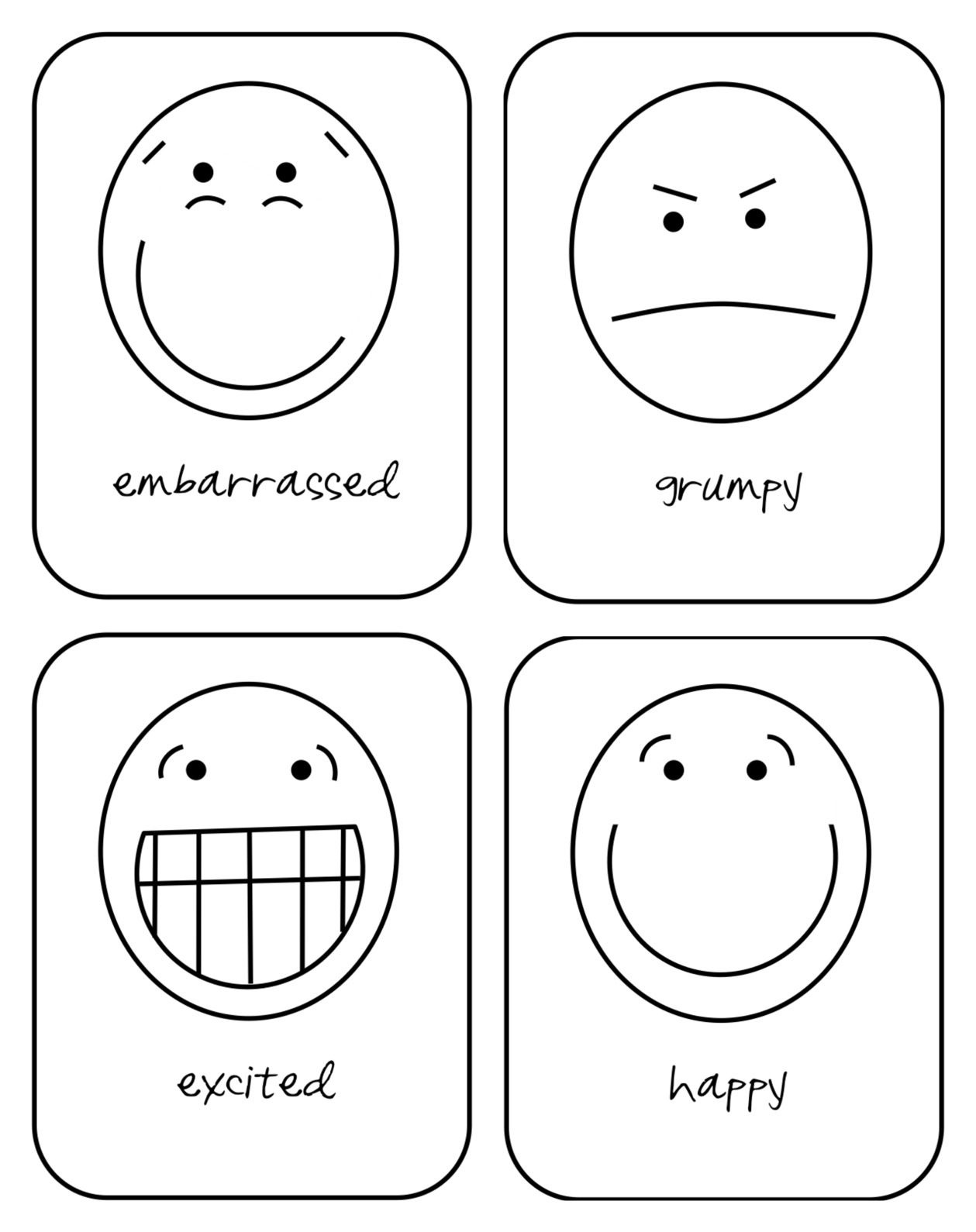 Free Printable Emotion Flash Cards For Your Toddler   Hopes And - Free Printable Pictures Of Emotions