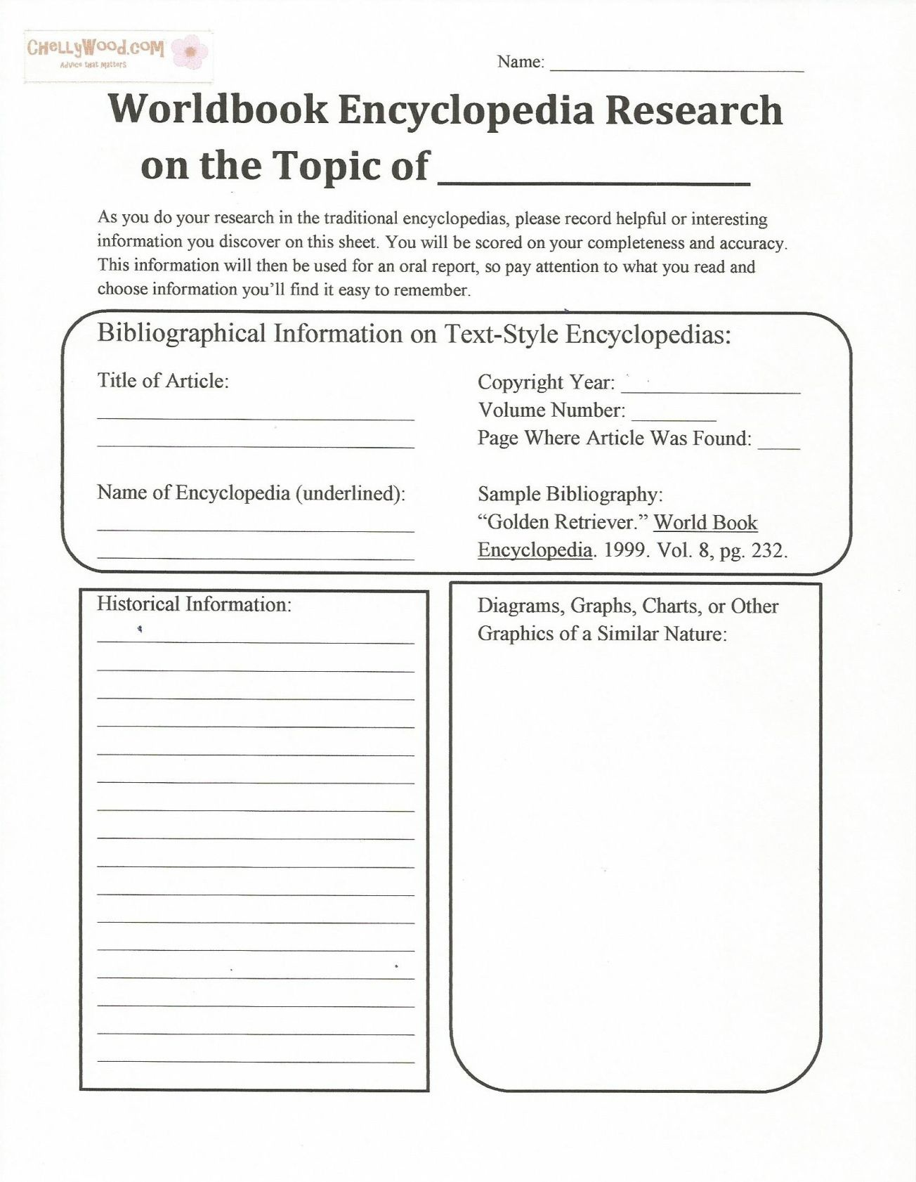 Free, Printable #encyclopedia Handout For #teaching Research Papers - Free Printable Parent Information Sheet