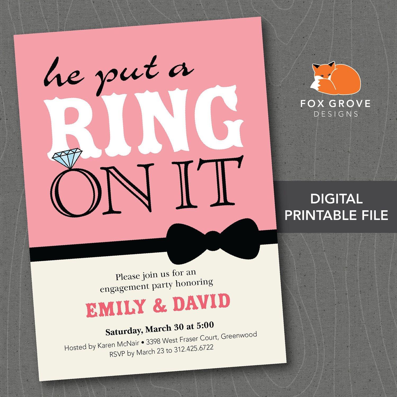 Free Printable Engagement Invitation Templates - Party Invitation - Free Printable Engagement Party Invitations