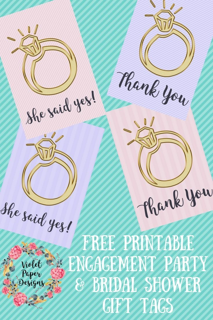 Free Printable Engagement Ring Gift Tags   Planners, Printables And - Party Favor Tags Free Printable