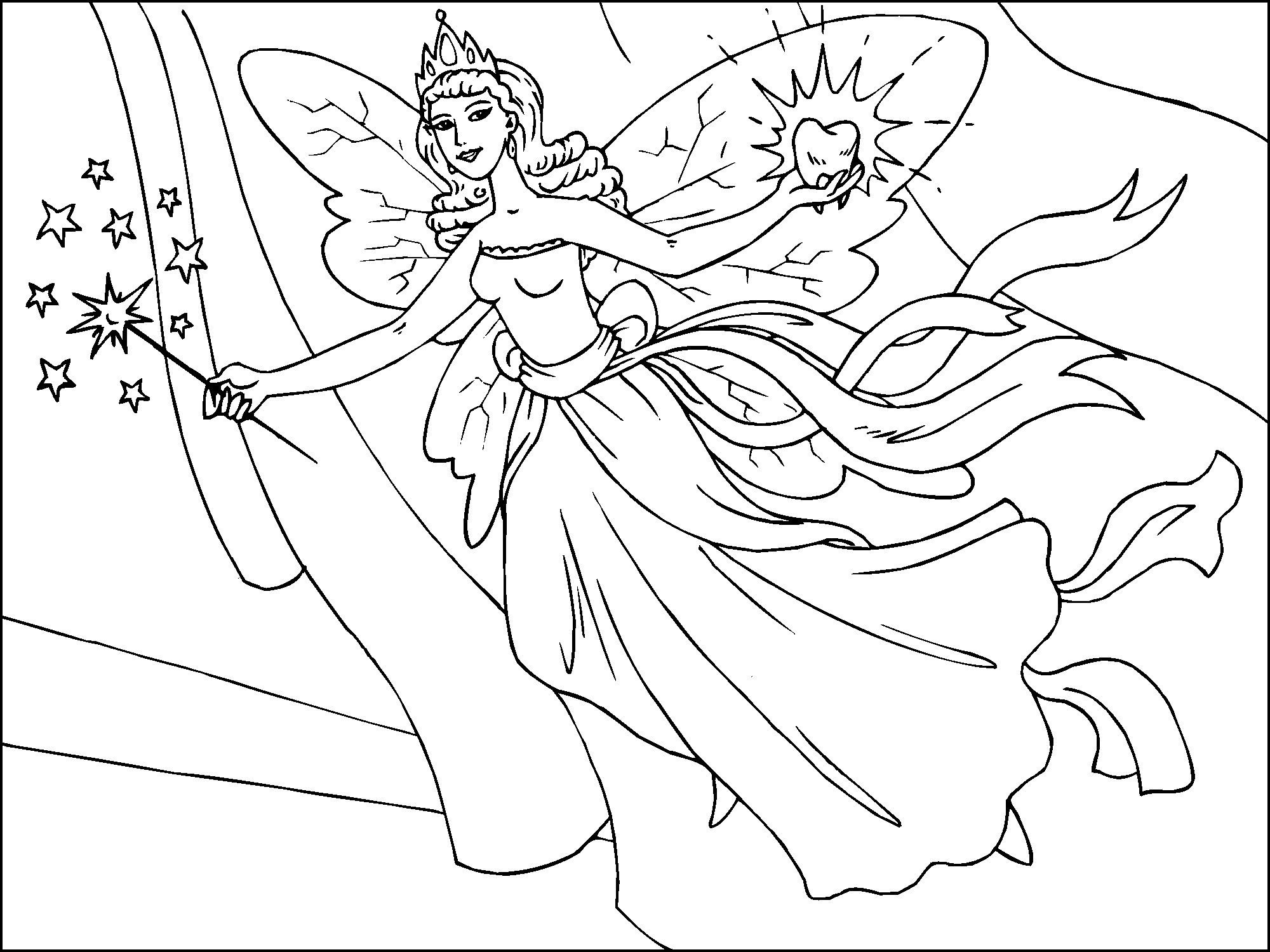 Free Printable Fairy Coloring Pages For Kids | Everything | Fairy - Free Printable Fairy Coloring Pictures