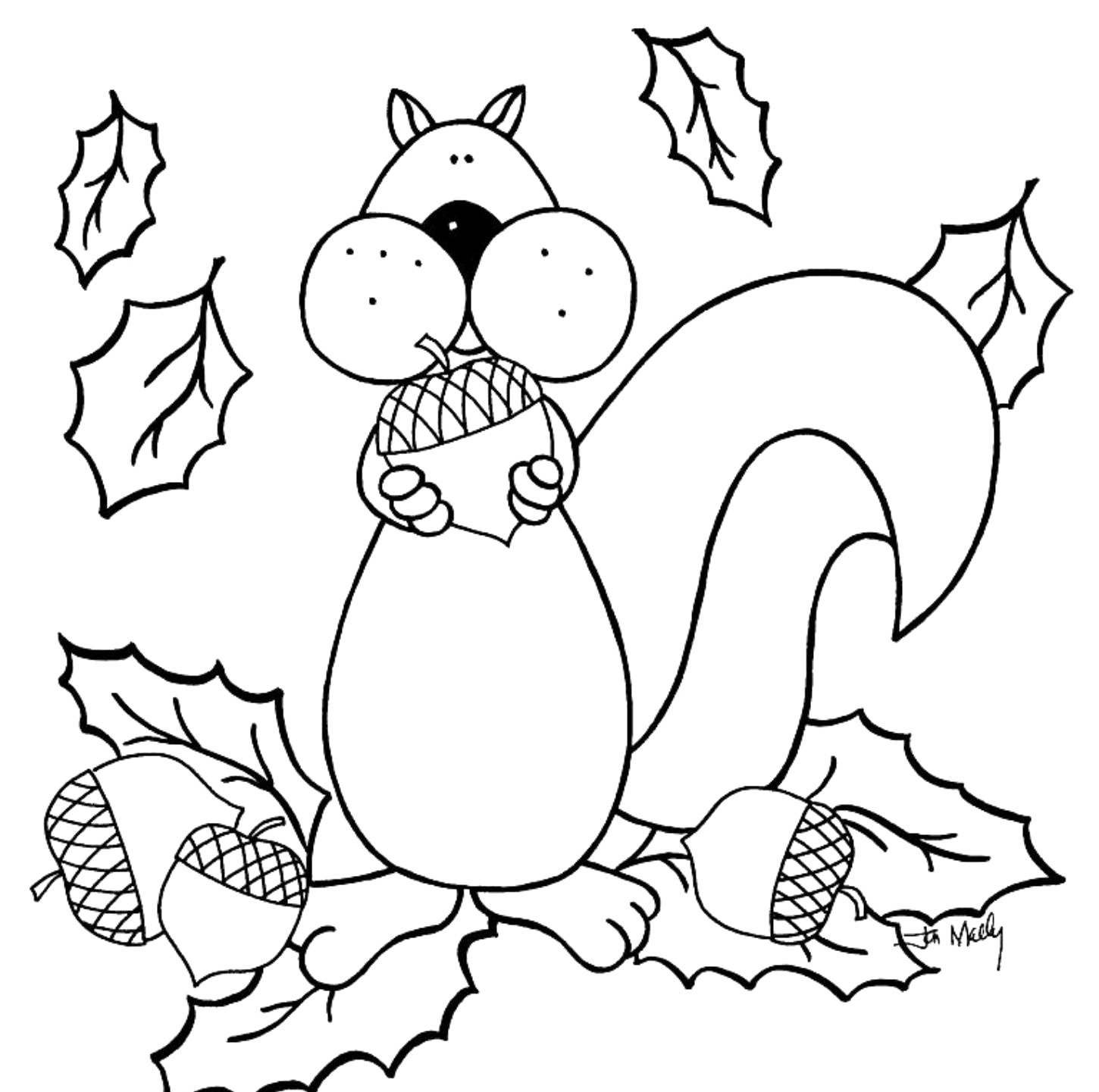 Free Printable Fall Coloring Pages For Kids - Best Coloring Pages - Free Printable Leaf Coloring Pages