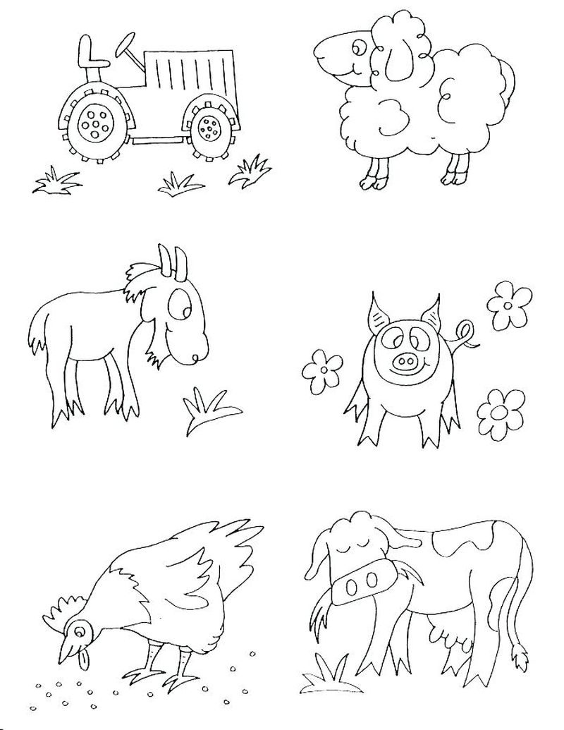 Free Printable Farm Animal Coloring Pages - Free Coloring Sheets - Free Printable Farm Animal Pictures