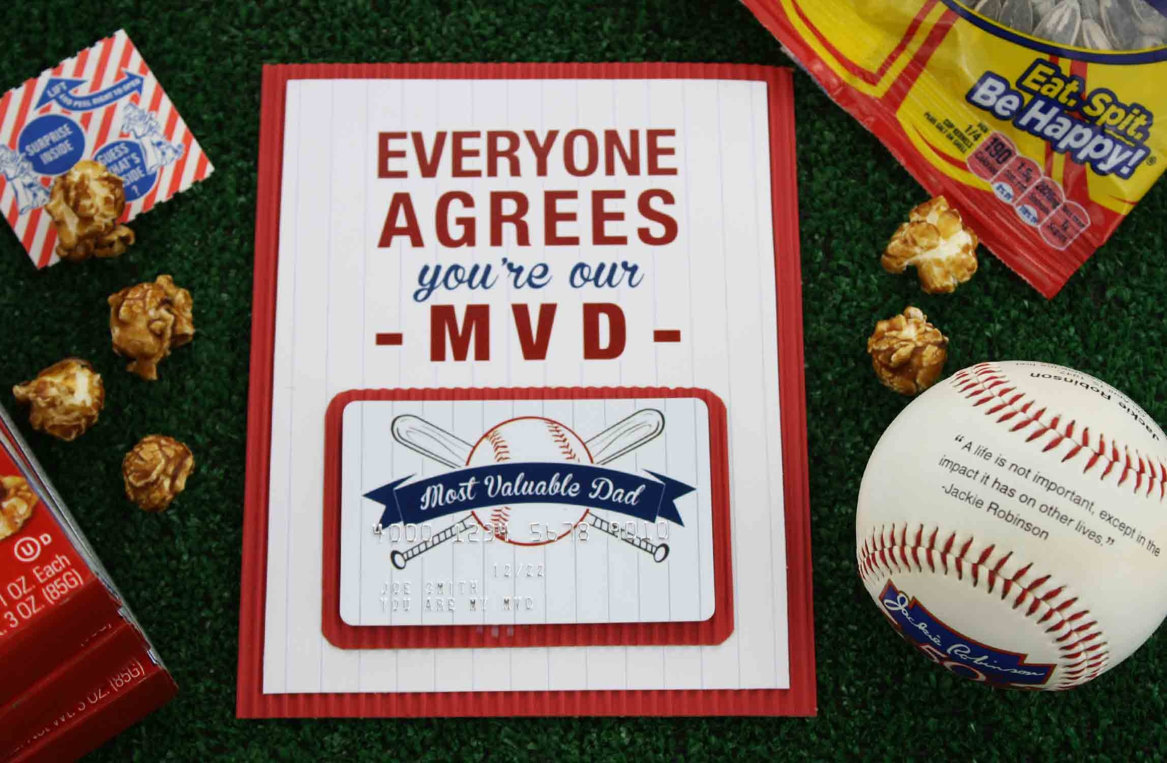 """Free Printable} Father's Day """"most Valuable Dad""""   Gcg - Free Printable Baseball Stationery"""
