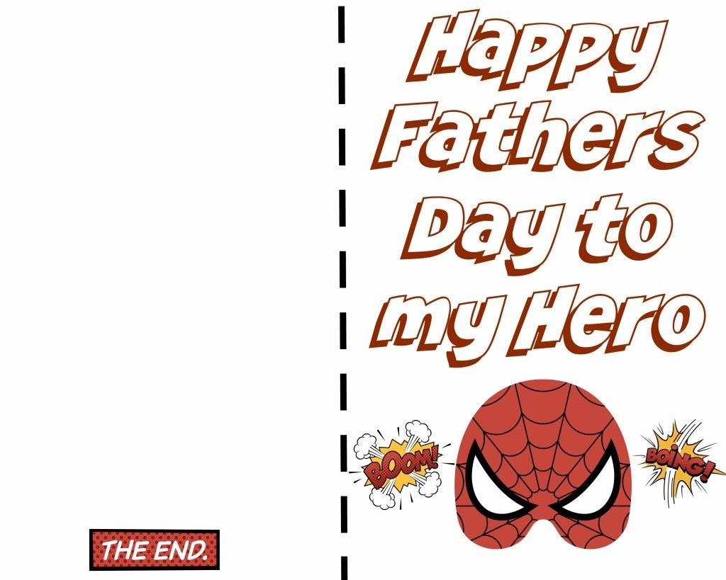 Free Printable Fathers Day Super Hero Cards. Just Print Out And Let - Free Printable Fathers Day Cards