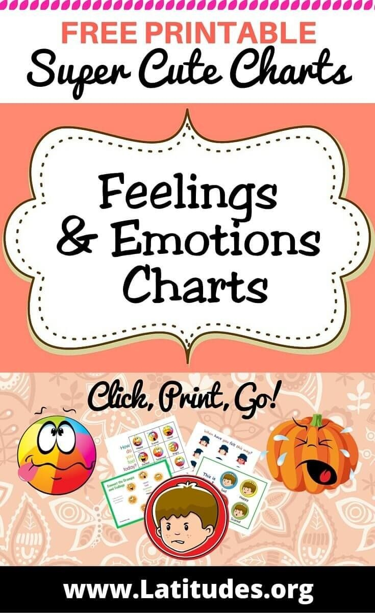 Free Printable Feelings & Emotions Charts For Kids   Behavior Charts - Free Printable Pictures Of Emotions