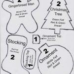Free Printable Felt Christmas Ornament Patterns | Crafts | Printable   Free Printable Christmas Ornament Patterns