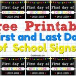 Free Printable First And Last Day Of School Signs   Casa Moncada   First Day Of School Printable Free