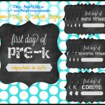 Free Printable} First Day Of School Chalkboard Sign • The Pinning Mama   First Day Of School Printable Free