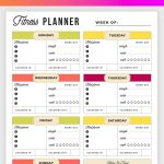 Free Printable Fitness Planner   Meal And Fitness Tracker, Start Today!   Free Printable Fitness Log