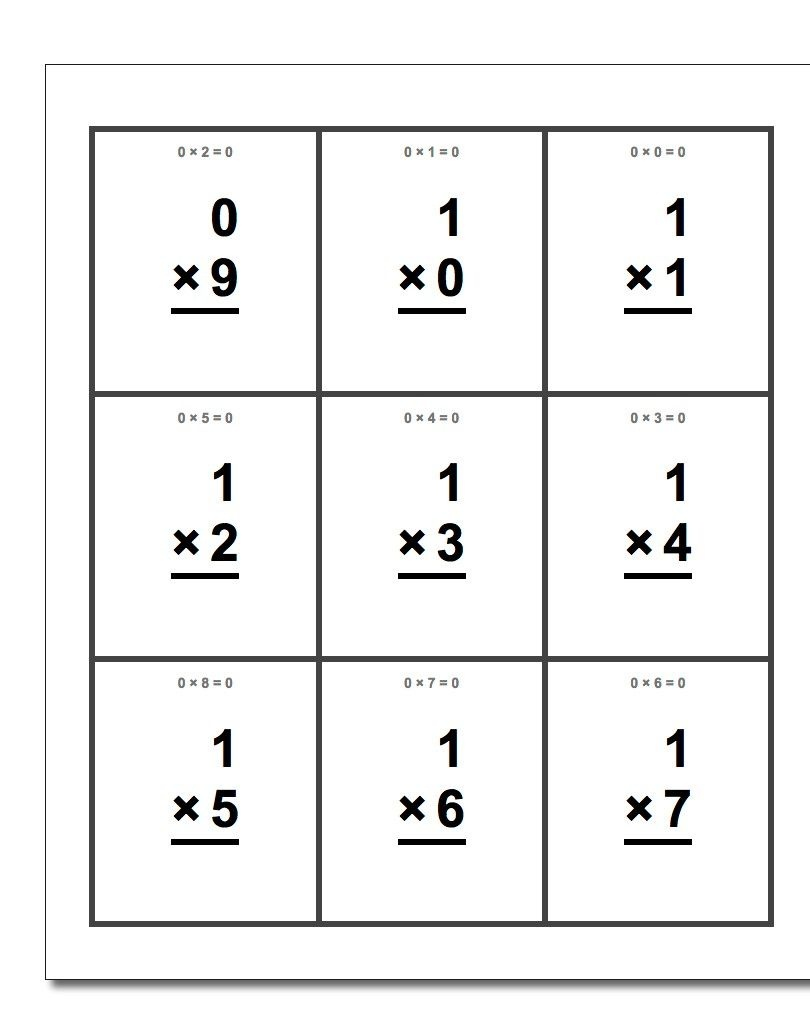 Free Printable Flash Cards For Each Math Operation With Answer Key - Free Printable Addition Flash Cards