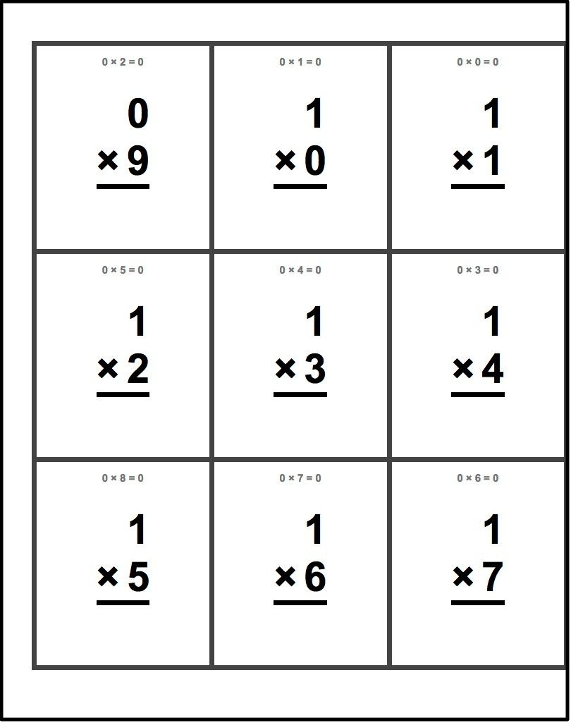 Free Printable Flash Cards For Multiplication Math Facts. This Set - Free Printable Multiplication Flash Cards