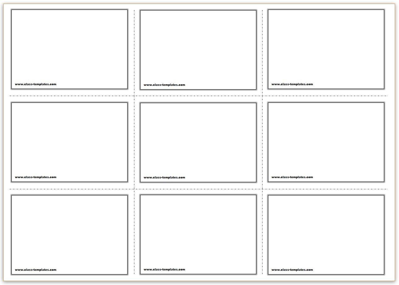 Free Printable Flash Cards Template - Free Printable Card Templates