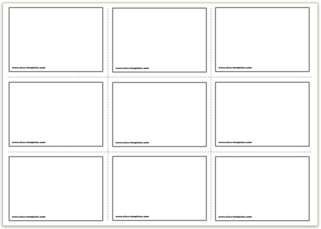 Free Printable Flash Cards Template - Free Printable Flash Cards