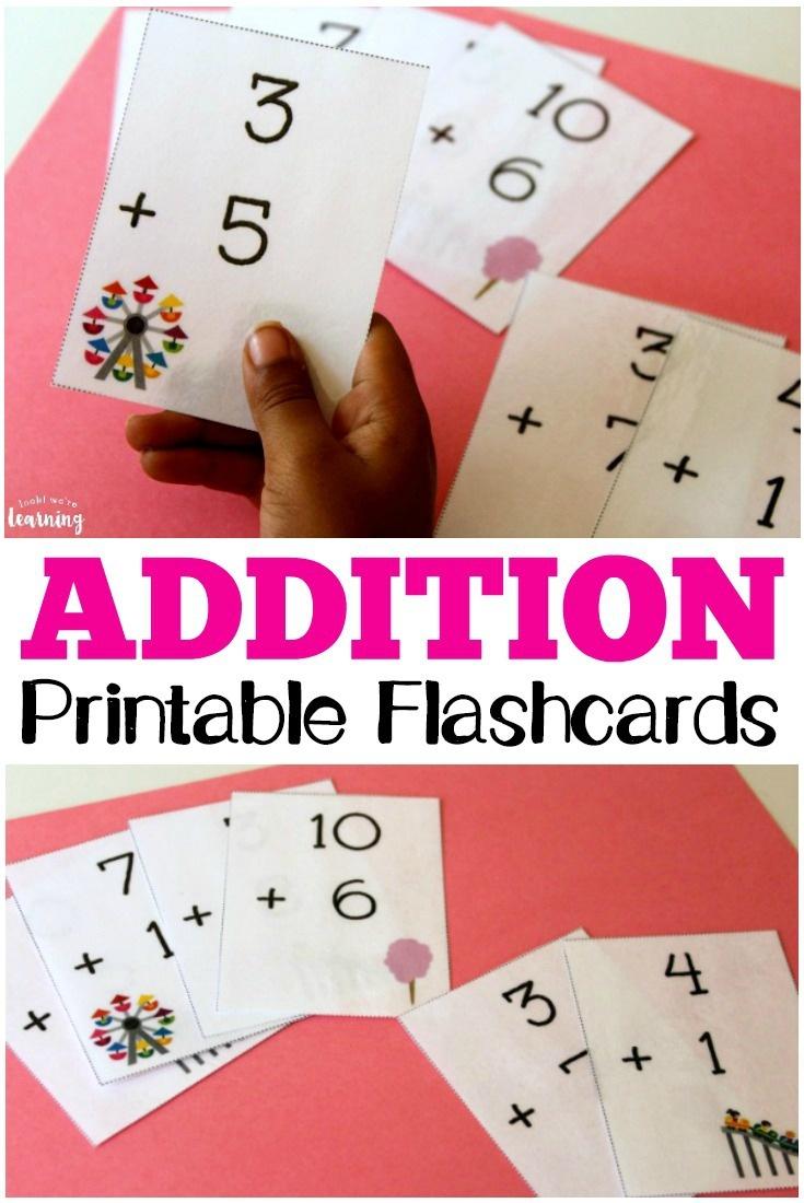 Free Printable Flashcards: Addition Flashcards 0-10 - Free Printable Addition Flash Cards