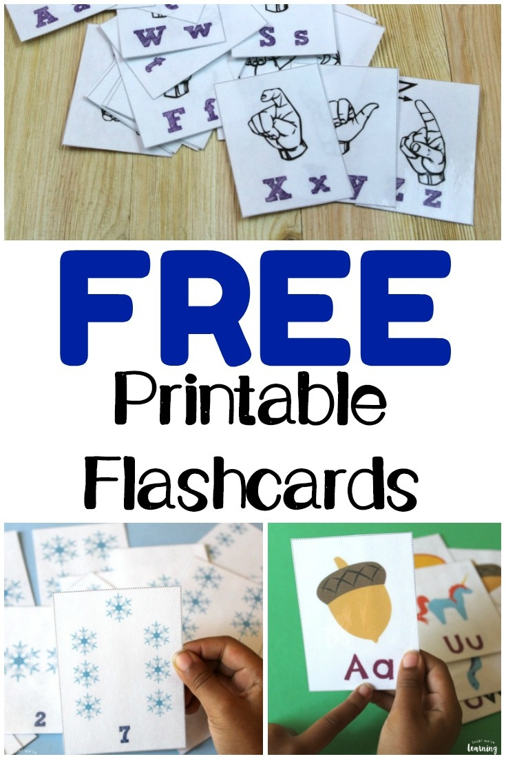 Free Printable Flashcards - Look! We're Learning! - Free Printable Flashcards For Toddlers
