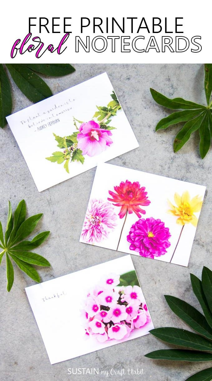Free Printable Floral Notecards | ✂️diy Im Determined To Make - Free Printable Cards For All Occasions