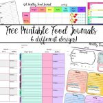 Free Printable Food Journal: 6 Different Designs   Free Printable Calorie Counter Journal