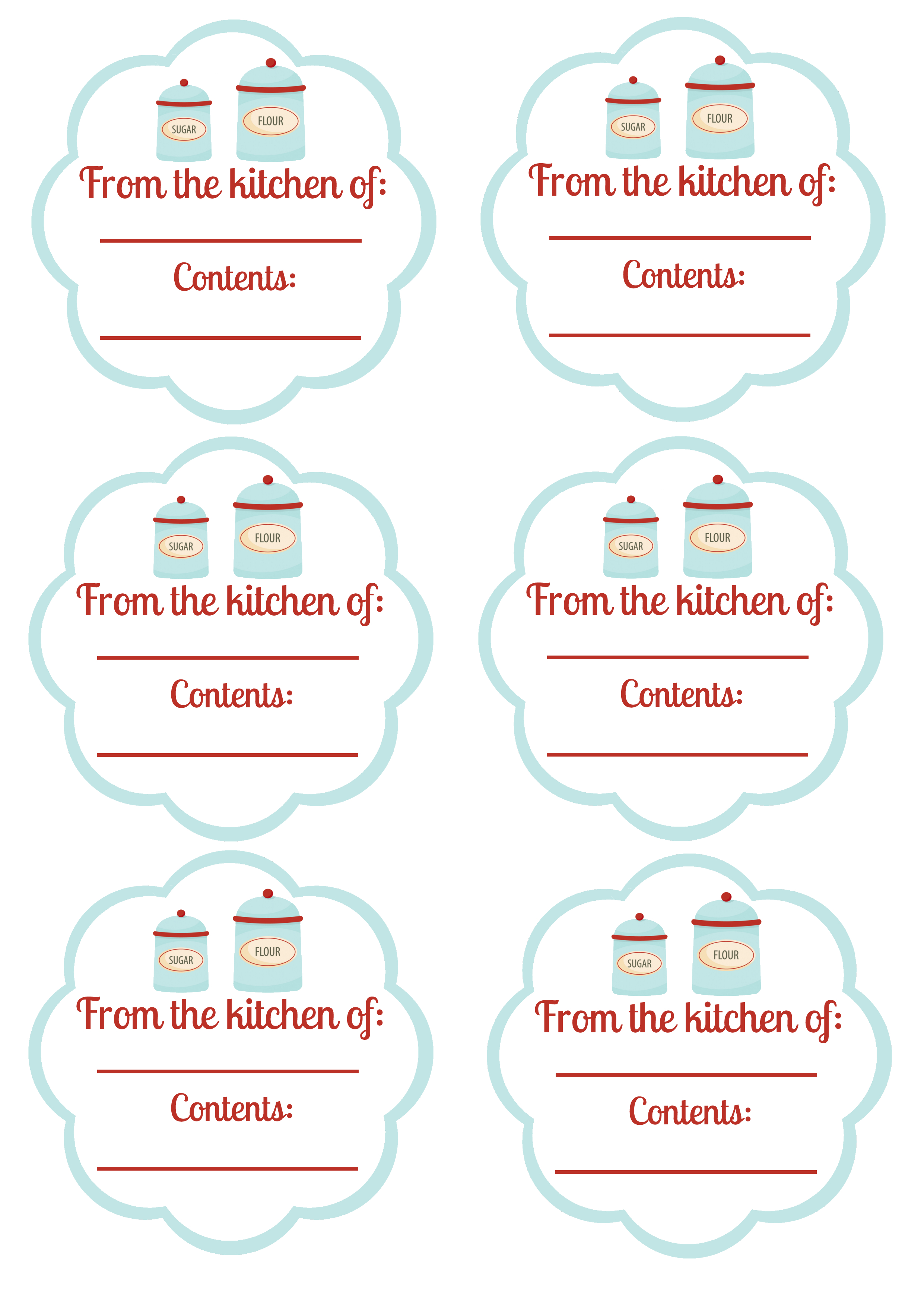 Free Printable - Food Labels And Canning Labels - Blissfully - Free Printable Food Labels
