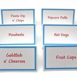 Free Printable Food Tent Cards   Printable Cards   Free Printable Food Tent Cards