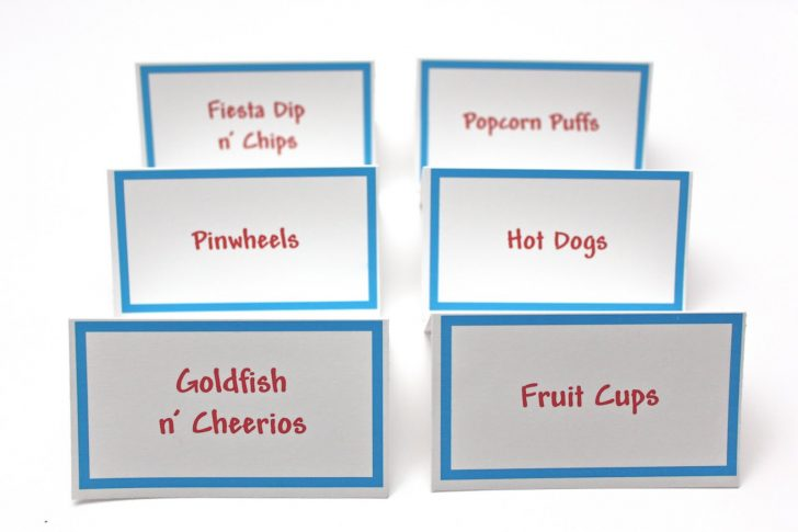 Free Printable Food Tent Cards
