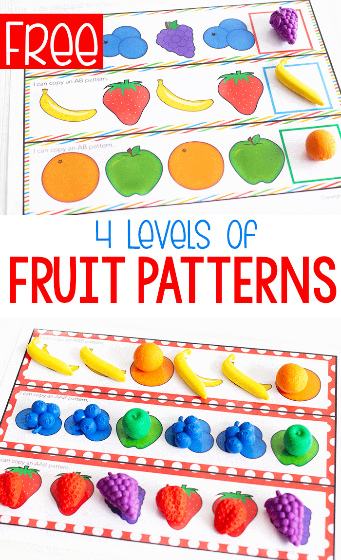 Free Printable Fruit Themed Pattern Activity - Life Over Cs - Free Printable Patterns