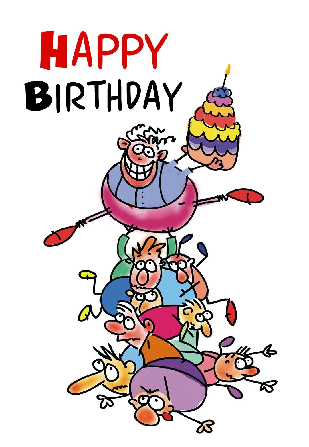 Free Printable Funny Birthday Greeting Card | Gifts To Make | Free - Free Printable Funny Birthday Cards For Adults