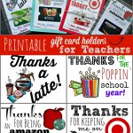 Free Printable Gift Card Holders For Teacher Gifts | Printables   Free Teacher Appreciation Week Printable Cards