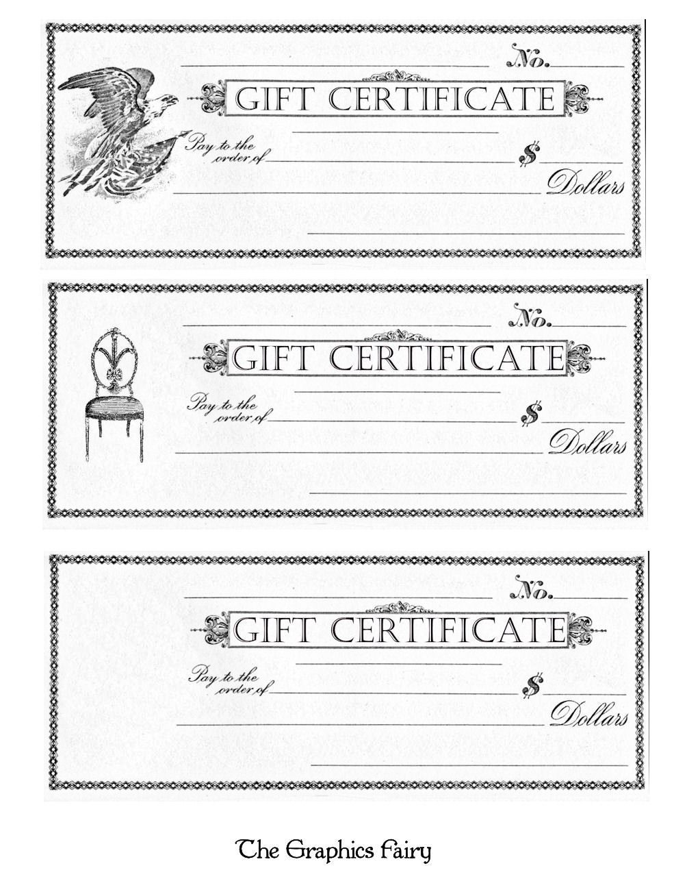 Free Printable - Gift Certificates | Craft Ideas | Free Printable - Free Printable Gift Certificates