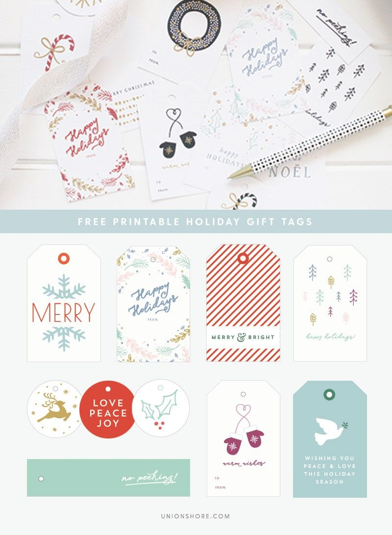 Free Printable Gift Tags - Colorful Christmas Wrapping - Diy - Diy Gift Tags Free Printable