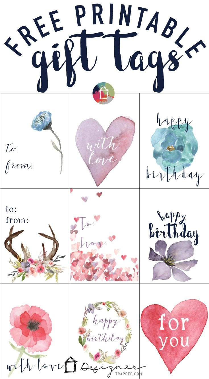 Free Printable Gift Tags For Birthdays | Designertrapped - Free Printable Favor Tags